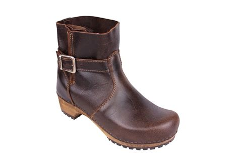 clogs boots for sanita classic low biker clog boot in antique brown finish