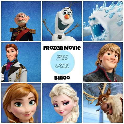 printable frozen characters frozen free printable bingo oh my fiesta in english