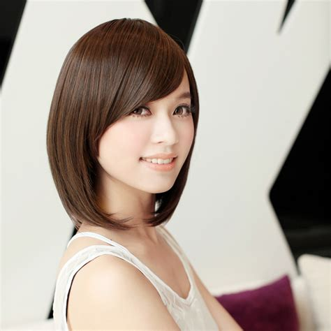 italian shorthairwomen girls short hair wig oblique bangs short hair girls wig