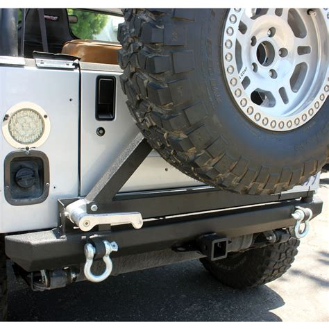 Jeep Tj Rear Tire Carrier Bumper 87 06 Jeep Wrangler Yj Tj Rock Crawler Rear Bumper Tire
