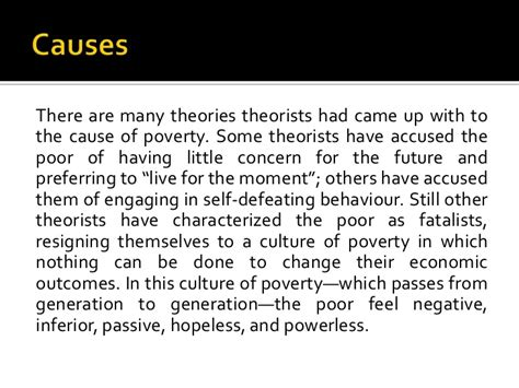 Lack Of Education Causes Poverty Essay by Causes And Effects Of Poverty