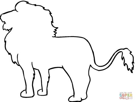 Animal Outline Drawings Lion Outline Coloring Online Something To Draw Pinterest Outline Outline Pictures Of Animals For Colouring