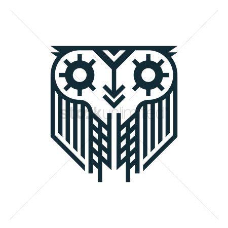 owl tattoo minimalist free minimalist stock vectors stockunlimited