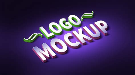 logo mockup tutorial 3d logo text effect mockup psd graphicsfuel