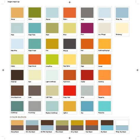 Paints Shade Card For Interior Walls by Wall Colour Shade Cards 20 Ways To Bright Space In