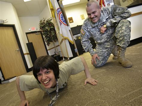 Army Recruitment Office by As The Recession Expands So Is Enlistment In The