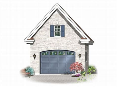 One Car Garage With Loft by 1 Car Garage Plans Detached One Car Garage Plan With