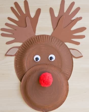 How To Make A Paper Reindeer - make a paper plate reindeer activity education