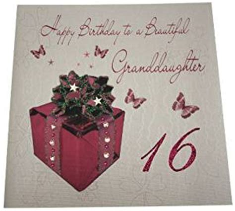 Granddaughter 16th Birthday Cards Amazon Com White Cotton Cards Code Xlwb105 Happy Birthday