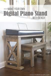 Pine Kitchen Furniture diy digital piano stand plus bench a 25 project