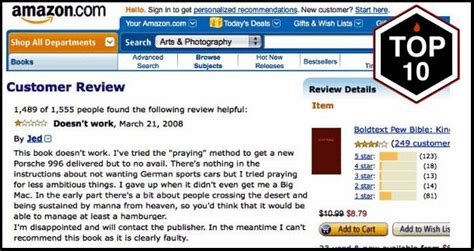 best on amazon the top 10 best books with the worst amazon customer