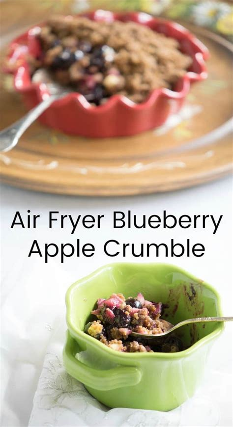 vegan air fryer cookbook amazing plant based air fryer recipes for healthy ethical and sustainable living books vegan air fryer blueberry apple crumble from the vegan air