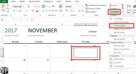 how to make a calendar with excel how to make a calendar in excel youprogrammer