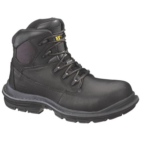 Caterpillar Revo Black Boot Safety Steel Toe Outdoor Adventure Kerja s caterpillar 174 6 quot transition composite toe work boots
