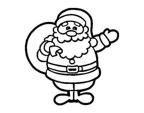 imagenes de santa claus en blanco y negro dibujo de un pap 225 noel para colorear dibujos net