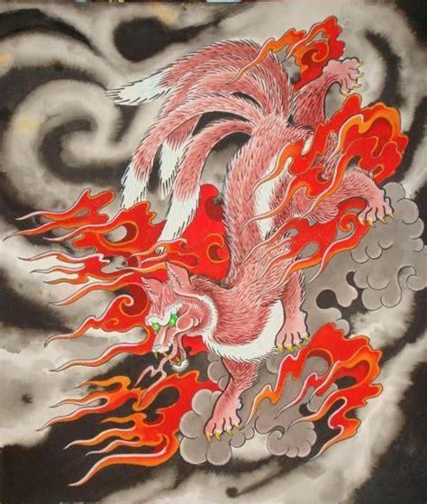 tattoo japanese fox kitsune japanese fox spirit trickster shapeshifter
