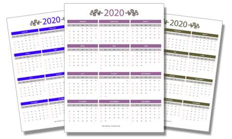 2020 Year Calendar 2020 Free Printable Calendars Free Printable Calendars