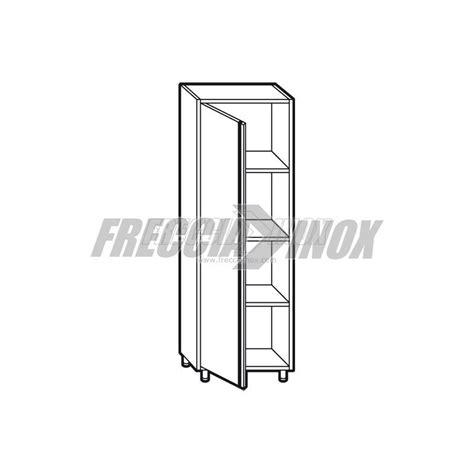 armadio acciaio armadio neutro in acciaio inox 1 porta battente l700