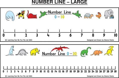 printable elementary school number line large number line 0 30 w pen by learning can be fun for