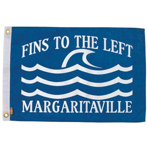 margaritaville boat flags margaritaville fins to the left novelty flag west marine