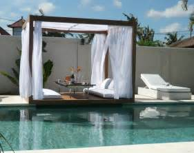 Day Bed By The Pool Outdoor Wood Gazebo With Canopy Jinday By