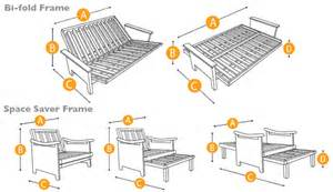 futon frame sizes bm furnititure