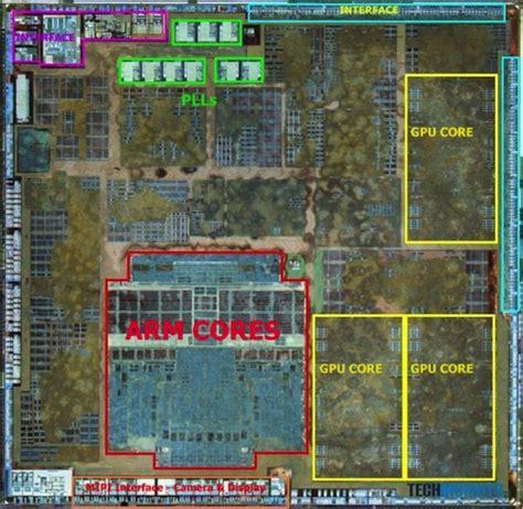 layout software chip a6 chip 2 prozessor kerne 3 gpu kerne