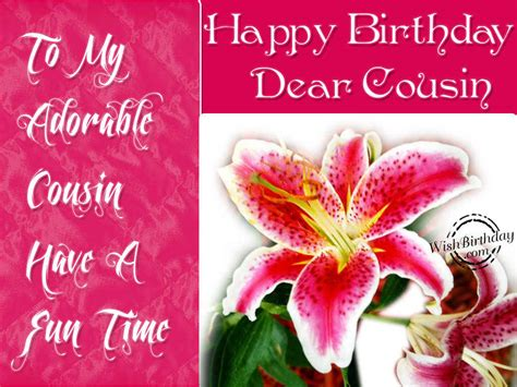 Happy Birthday Wishes For Cousin Happy Birthday Dear Cousin Wishbirthday Com