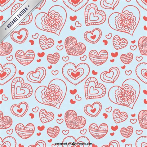 valentine pattern vector valentine pattern with hearts vector free download