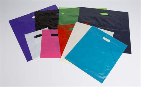 colored plastic bags plastic shopping bags clear and color a b store fixtures