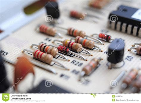 resistor motherboard resistors on motherboard royalty free stock photos image 35396758