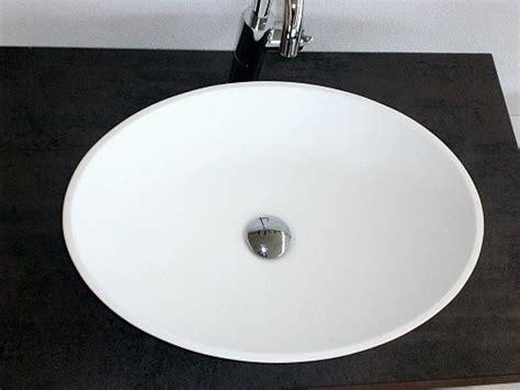corian aufsatzwaschbecken aufsatz waschbecken gioia in steinguss weiss matt wie
