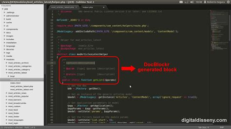 sublime text html template sublime text 2 for joomla development