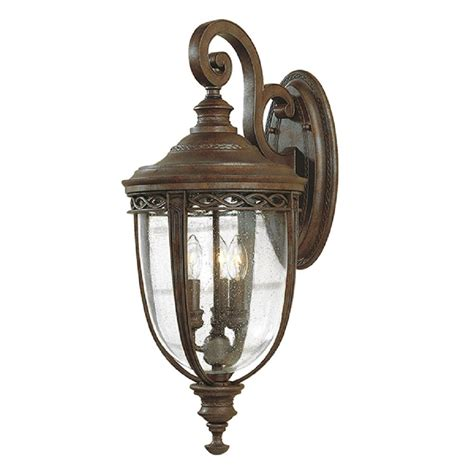 large bronze outdoor wall light in traditional period