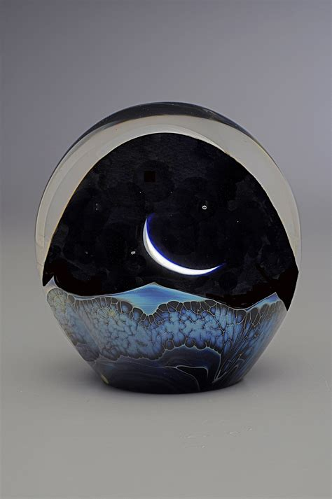 How To Make A Glass Paper Weight - moonrise paperweight by robert burch glass
