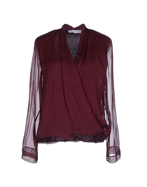 Kaos Sleeve Cooper by Kaos Blouse In Maroon Lyst