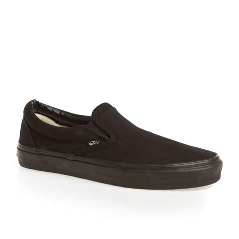 vans classic slip on shoes black free uk delivery on