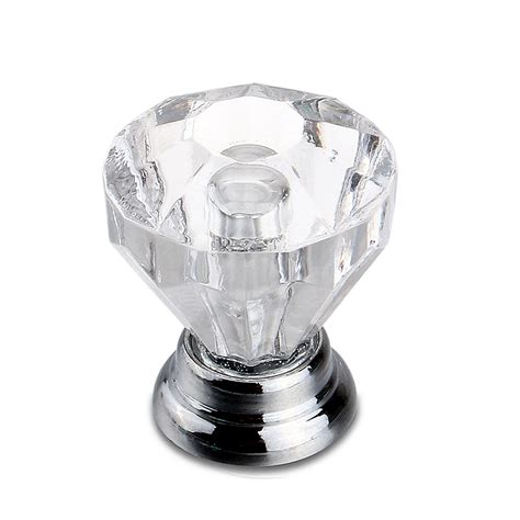 Wholesale Small Crystal Cut Glass Drawer Cupboard Pulls Cut Glass Door Knobs