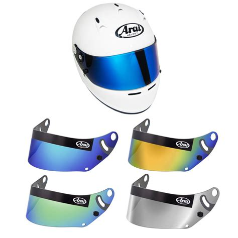 colored visors censport graphics arai colored mirrored visor
