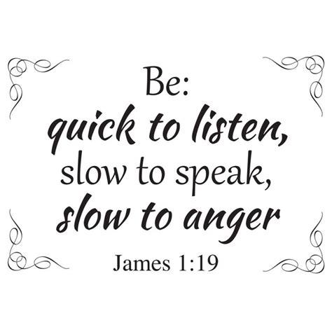 James 1:19 bible verse wall decal   Divine Walls