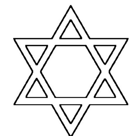 printable jewish star template free coloring pages of jewish star
