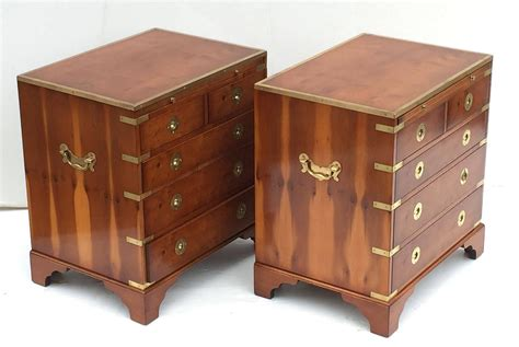 Low Nightstands by Pair Of Caign Style Nightstands Or Low Chests At 1stdibs