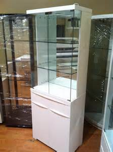 White Display Cabinet With Glass Doors Australia A 002 High Gloss Polyurethane Display Cabinet Australia