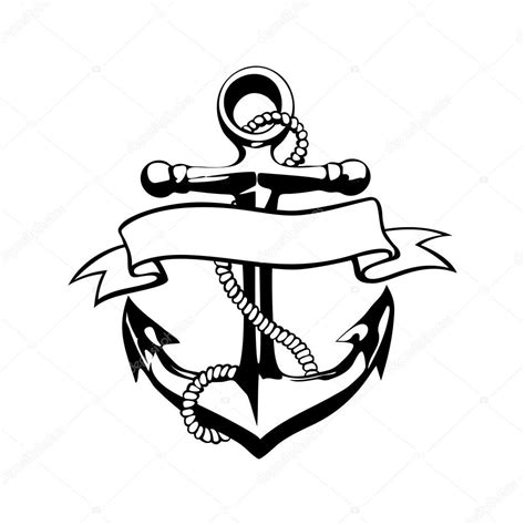 anchor icon vector tattoo logo grunge design floral