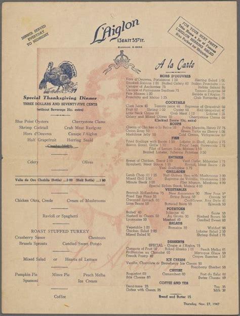 l post diner menu 24 best vintage thanksgiving images on vintage