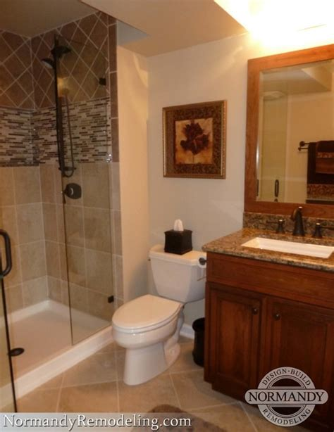 finished bathroom ideas finished basement adds valuable living space traditional