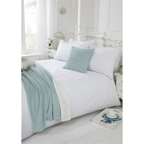 Pom Pom Duvet Pom Pom Trim Duvet Cover And Pillowcase Set