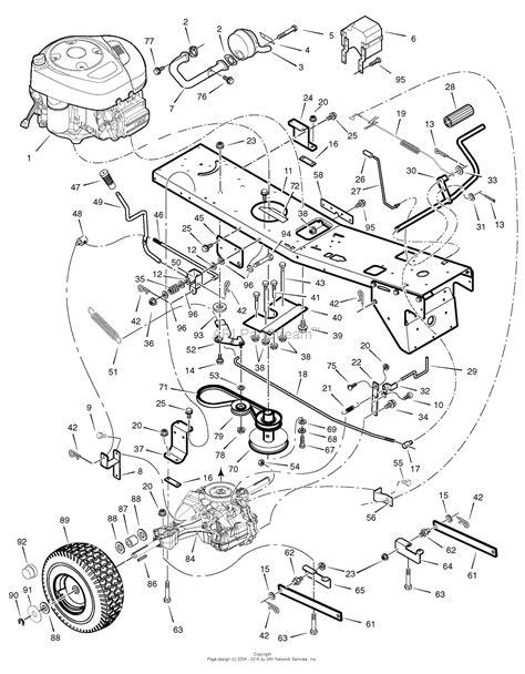murray lawn mower deck parts diagram murray 7800507 309007x166a 10 5hp b s w 30 quot mower deck