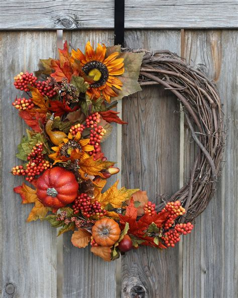 Fall Front Door Wreaths Fall Wreath Fall Decor Front Door Wreaths Seasonal