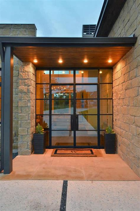Glass And Steel Doors 26 Modern Front Door Designs For A Stylish Entry Shelterness